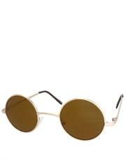 Teashade Sunglasses, Teashade Round Gold Brown Style 15