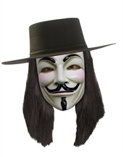 V for Vendetta Costume Accessory, Mens V for Vendetta Wig