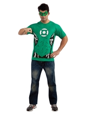 Green Lantern Costume, Mens Green Lantern Logo Green Costume T-Shirt