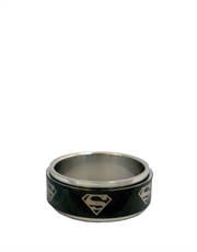 Superman Symbol Steel Ring