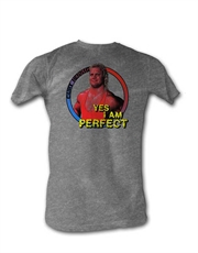 WWE T-Shirt, WWE Mr Perfect Yes I Am Grey