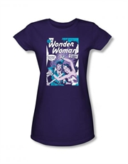 Wonder Woman Comics Human Shield Purple Ladies T-Shirt