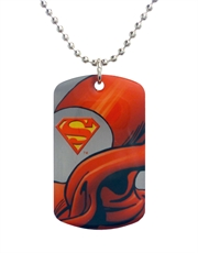 Superman Cape Dog Tag Necklace