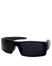 Cage Drive Style Chopper Sunglasses, Black Frame / Smoke Lens