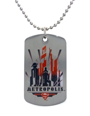 Superman Metropolis Dog Tag Necklace