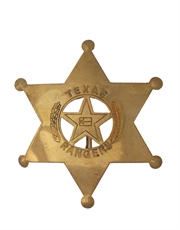 Western Cowboy Texas Rangers 2 Badge