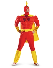 Simpsons Costume, Mens Radioactive Man Muscle Costume