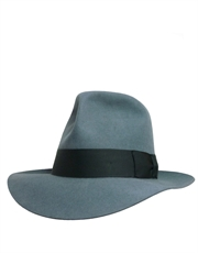 Adventurer Fur Felt Fedora Light Grey Hat