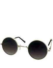 Teashade Sunglasses, Style 16, Silver Frame / Smoke Gradient Lens