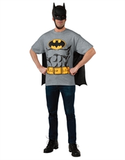 Batman Costume, Mens Batman Logo Grey Costume T-Shirt