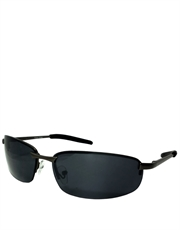 Shield Mackey Style Sunglasses, Gunmetal Frame / Smoke Lens