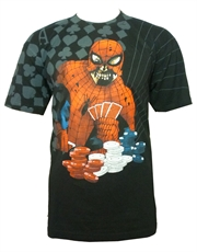 Spiderman T-Shirt, Spiderman Zombie Poker Player Black