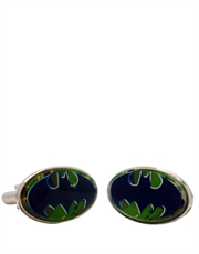 Batman Shield Camo Back Cufflinks