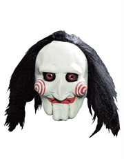 Saw Costume Accessory, Mens Jigsaw Puppet 3/4 Mask