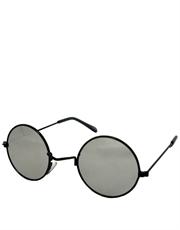 Teashade Sunglasses, Teashade Round Style 2, Black Frame / Full Mirror Lens
