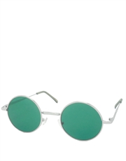 Teashade Sunglasses, Teashade Round Silver Green Style 7