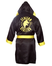 Rocky Robe, Mens Rocky Balboa Italian Stallion Black Robe