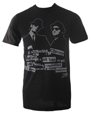 Blues Brothers T-Shirt, Blues Brothers 106 Miles To Chicago Black