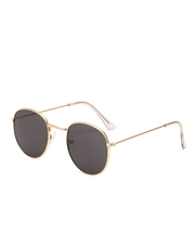 Treasure N. Cage Style Sunglasses, Gold Frame / Smoke Lens