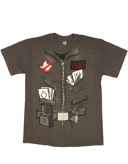 Ghostbusters T-Shirt, Ghostbusters Venkman Uniform Costume Grey
