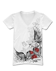 LA Ink T-Shirt, LA Ink Womens T-Shirt, Free Heart White