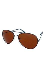 Hangover Cooper Style Aviator Sunglasses 1, Black Frame / Brown Lens