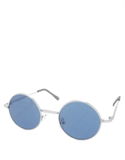 Teashade Sunglasses, Teashade Round Silver Light Blue Style 7