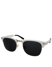 Lost Boys J. Patric Style Sunglasses, Silver Frame / Smoke Lens