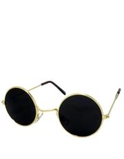 Lennon Style Teashade Round Sunglasses, Gold Frame /  Smoke Mirror Lens
