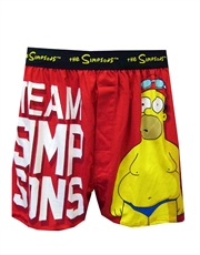 Simpsons Underwear, Mens Simpsons Underwear, Homer Swimming Champion Boxer Shorts