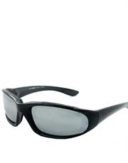 MI III Cruise Style Sunglasses, Black Frame / Mirror Lens