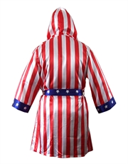 Rocky IV Robe, Mens Rocky Robe, Apollo Creed American Flag