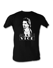 Miami Vice T-Shirt, Miami Vice Sonny Face Black