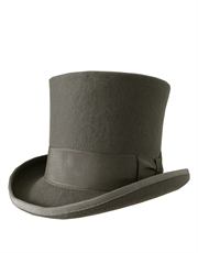 Top Hat, Wool Felt, Grey