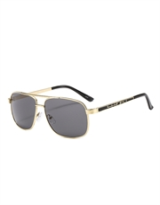 Bad Boys 3 Style Sunglasses Gold Frame / Smoke Mirror Lens