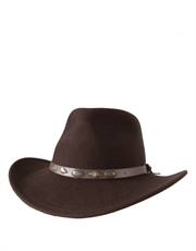 Outback Crushable, Wool Felt Hat, Brown