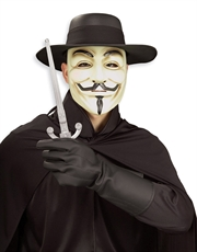 V For Vendetta Costume Accessory, Mens V For Vendetta Gloves