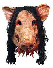 Saw Costume Mask, Mens Pig Full Mask
