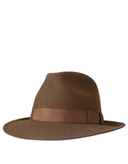 Chepstow Trilby Fedora Brown Hat