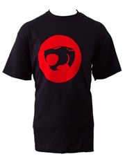 Thundercats T-Shirt, Thundercats Flocked Logo Black