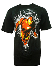 Iron Man T-Shirt, Iron Man Artistic Black