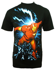 Iron Man T-Shirt, Iron Man Power Surge Black