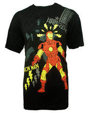 Iron Man T-Shirt, Iron Man And War Machine Black