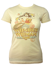 Wonder Woman Deflect Cream Ladies T-Shirt