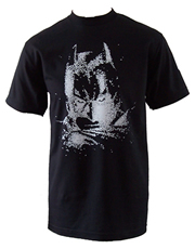 Batman The Dark Knight Bats Face Black T-Shirt