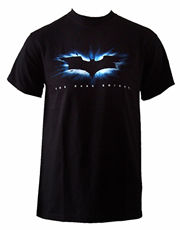 Batman The Dark Knight High Impact Bat Logo Black T-Shirt