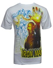Iron Man T-Shirt, Iron Man Hand White