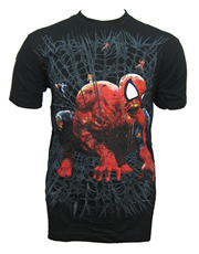 Spiderman T-Shirt, Marvel Zombies Spiderman Web Zombie Black
