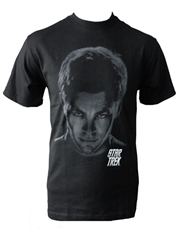 Star Trek T-Shirt, Star Trek Kirk Shadows Black