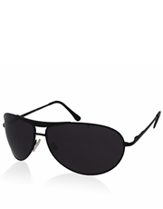 Wayne Dark Knight Style Sunglasses, Black Frame / Smoke Mirror Lens